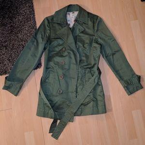 Hunter Green trench coat